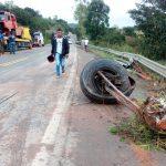 Pres. Tanc. Neves: Grave acidente envolvendo guincho e forte cargo na BR-101 próximo ao distrito de Moenda