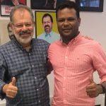 Ubaíra: professor Eliomar firma aliança com homem forte do governo